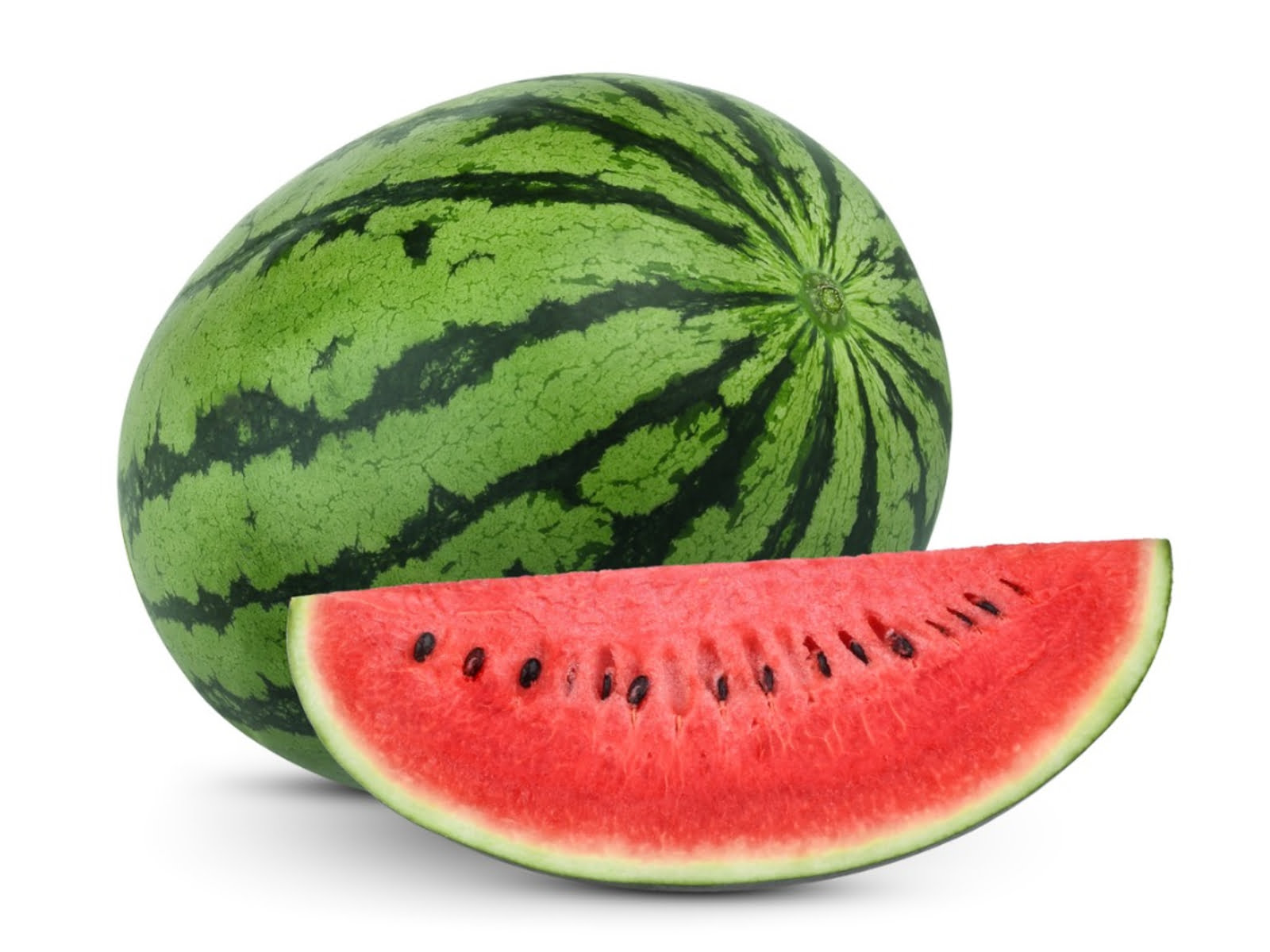whole and slices watermelon